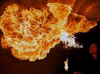 pokazy w teatrze ognia flow fireshow